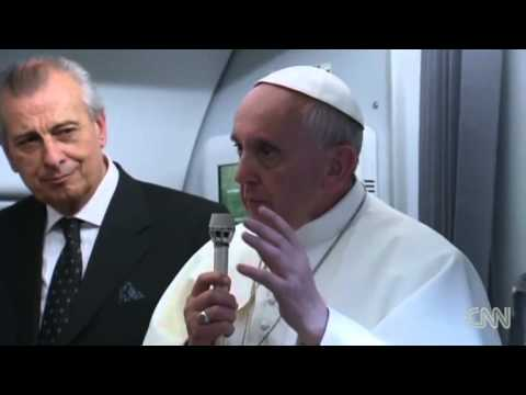 Pope: 'Who am I to judge' gay clergy from YouTube · Duration:  52 seconds