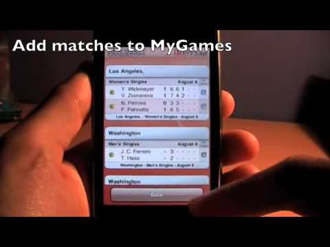 LiveTennis Free - Live Tennis Results IPhone App Demo