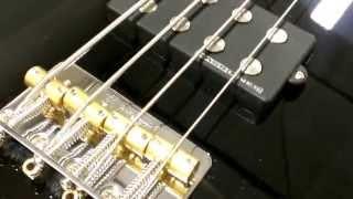 schecter baron h 4 string bass guitar vintage black