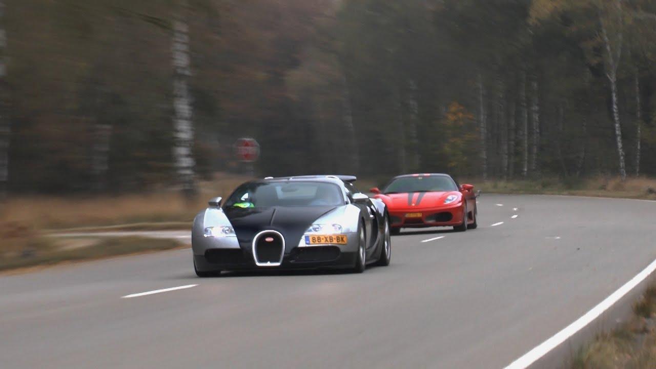 bugatti veyron vs ferrari f430 jdc racing at closed track 240 km h youtube. Black Bedroom Furniture Sets. Home Design Ideas