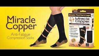 En compresión dedos cobre calcetines sin de
