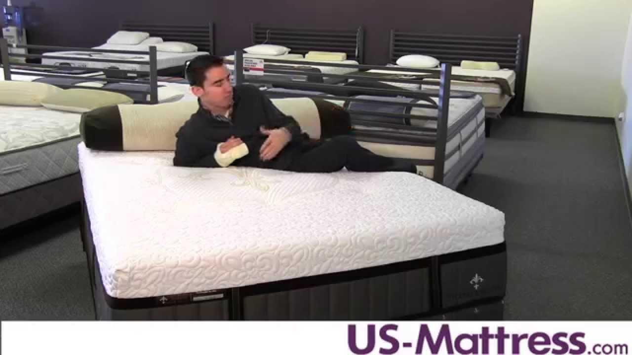 stearns u0026 foster lux estate hybrid point adams luxury plush mattress youtube