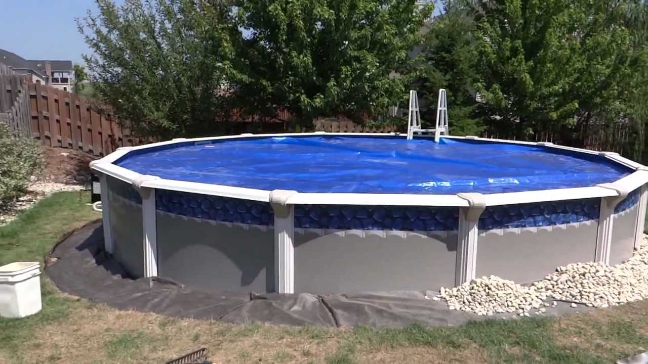 Pool Installation Detailing Around With River Rock Youtube