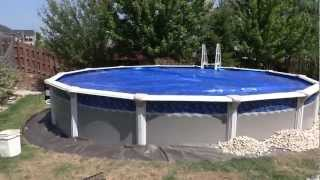 Pool installation & detailing around with river rock