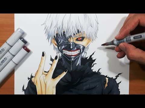 How To Draw Ken Kaneki from Tokyo Ghoul - Step By Step Tutorial