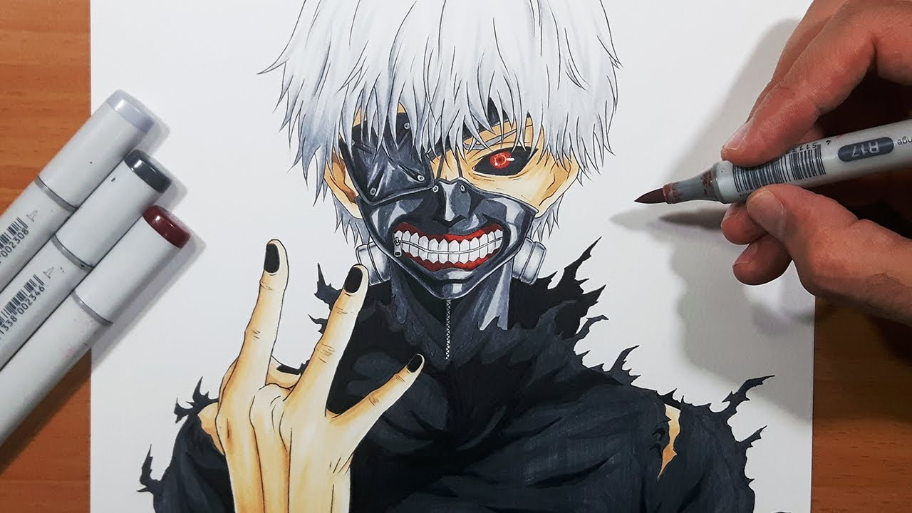 How To Draw Ken Kaneki From Tokyo Ghoul Step By Step Tutorial