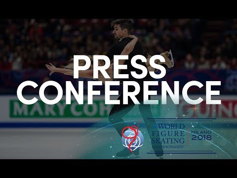 Ice Dance Short Dance Press Conference - Milano 2018