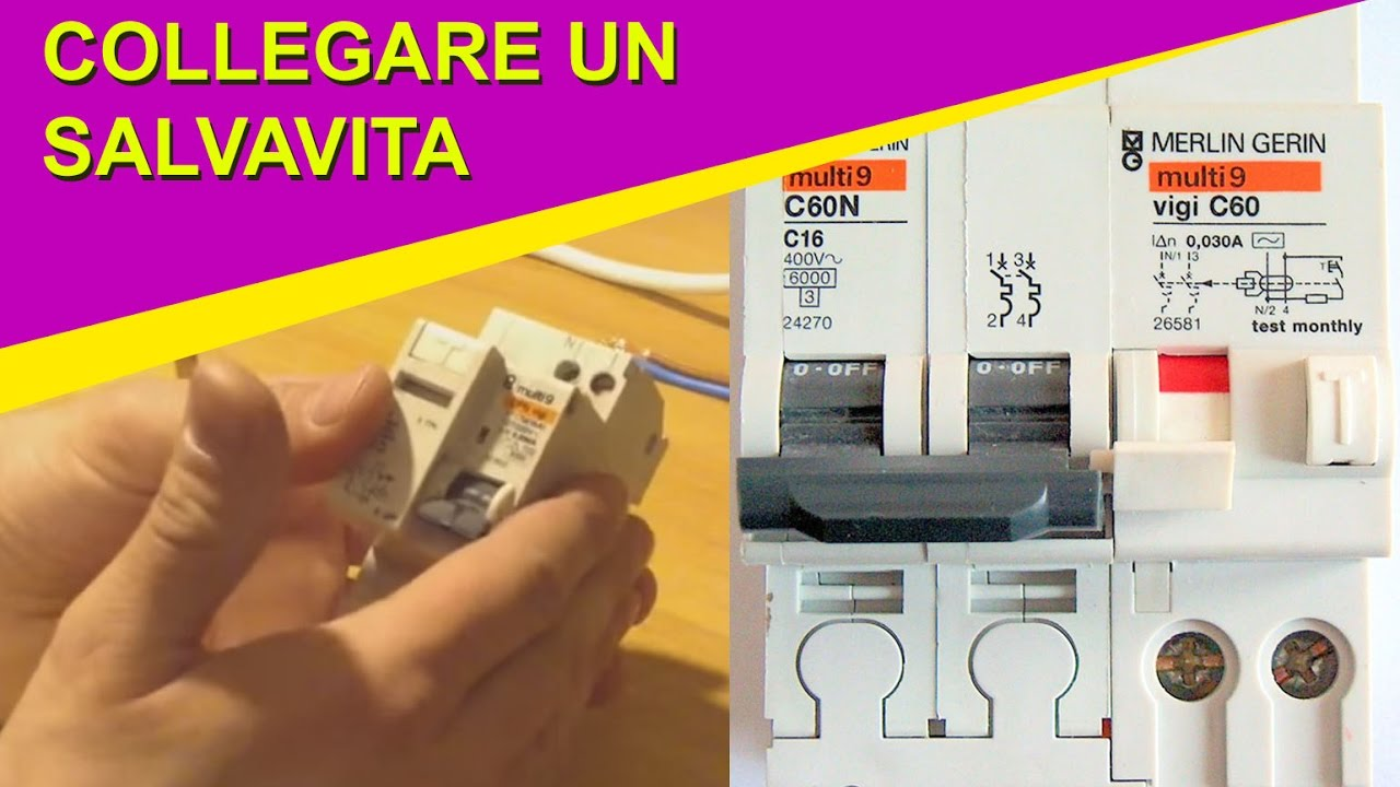 Come collegare un interruttore salvavita monofase youtube - Collegare un interruttore ...