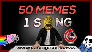 50 MEMES in 1 SONG (in 5 minutes)