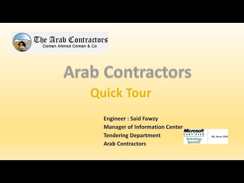 My Presentation Of The Arab Contractors Profile - YouTube