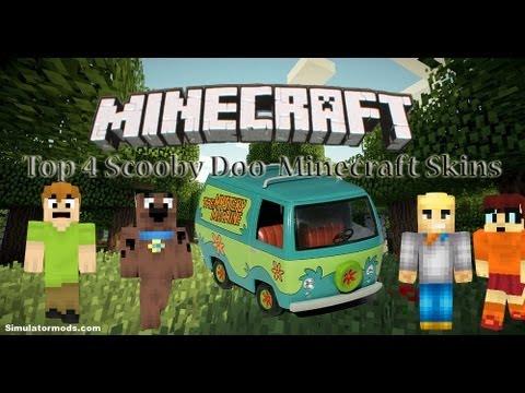 Top 4 Minecraft Skins Scooby Doo Cartoon Characters - YouTube