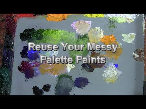 Quick Tip 162 - Reuse Your Messy Palette Paint