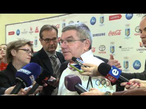 Thomas Bach, IOC President. Interview in Kyiv, Ukraine NOC 25 anniversary celebration