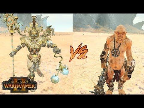 Total War Warhammer 2 Hierotitans vs Giants