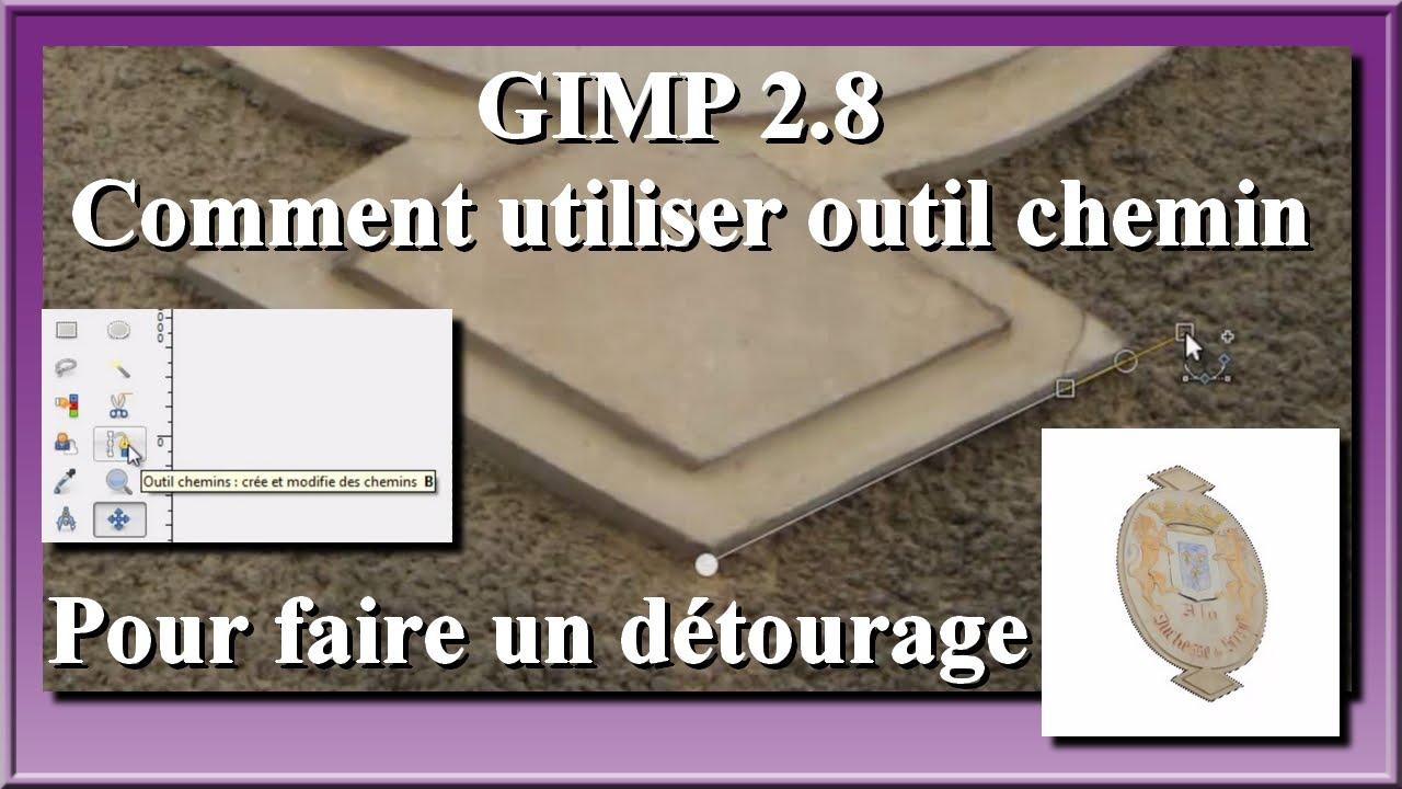 Gimp 2 8 comment utiliser outil chemin pour faire un d tourage youtube - Comment utiliser un araseur pour lino ...