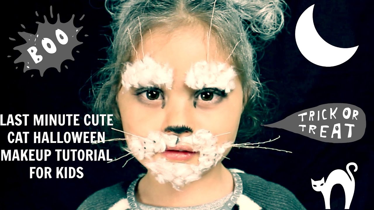 Cat Or Mouse? Last Minute Cute Cat Halloween Makeup Tutorial For ...