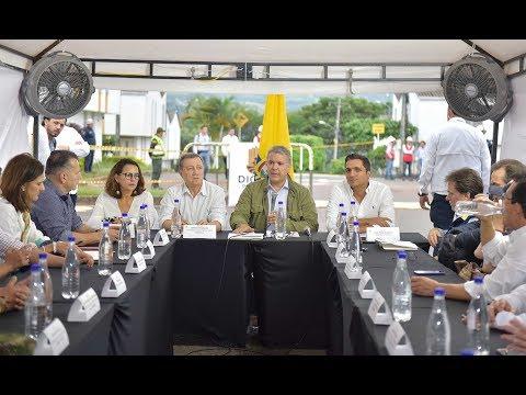 Presidente Iván Duque al término de la reunión en el PMU en Pereira - 24 de junio de 2019
