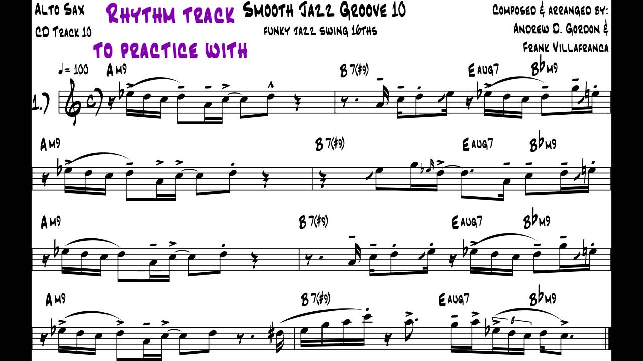 Ultra Smooth Jazz Grooves for Bb (tenor) instruments PDF/MP3/MIDI files