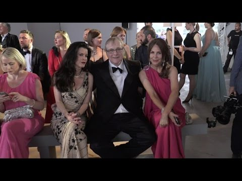 American business magnate Paul Allen front row of Fashion for Relief