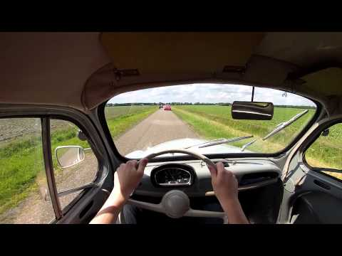 Driving a Renault 4CV in The Netherlands