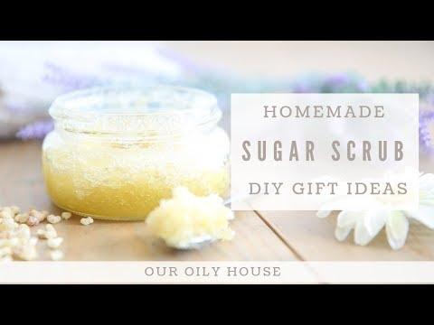 homemade-sugar-scrub-using-essential-oils-|-frankincense-and-lavender