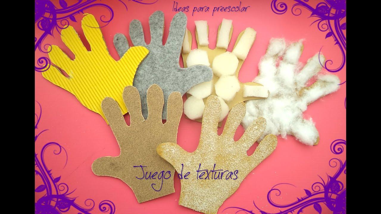 Juego de texturas youtube for Actividades para jardin maternal sala de 2