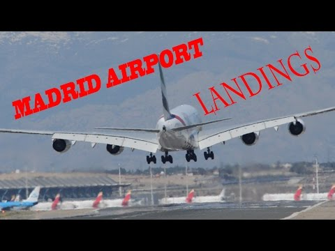 Madrid Airport Spotting | 40 Minutes of Landings | A380 A350 B787 and more