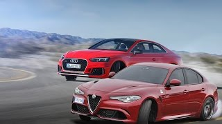 2017 Audi RS5 Coupe vs 2017 Alfa Romeo Giulia Quadrifoglio