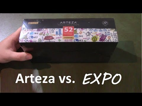 arteza-vs.-expo-dry-erase-markers-color-comparison