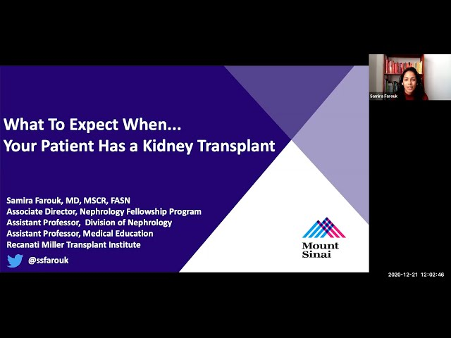 What to Expect When... Your Patient Has a Kidney Transplant