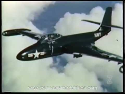 US Navy Jet Fighter Tactics  - Restored Color 1951