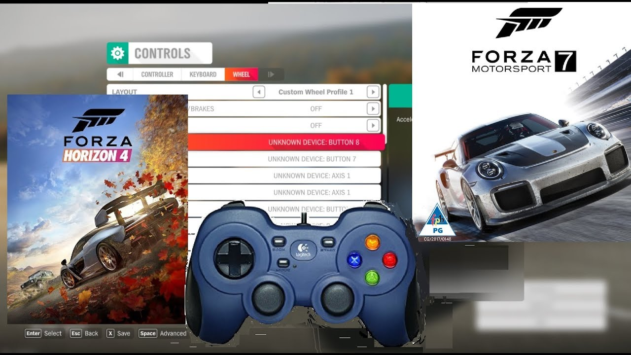How to use any control in Forza Horizon 4 Demo and Forza Motorsport 7