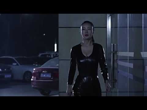 Daniella Wang (Li Dan Wang) in Leather Walking and Jiggling
