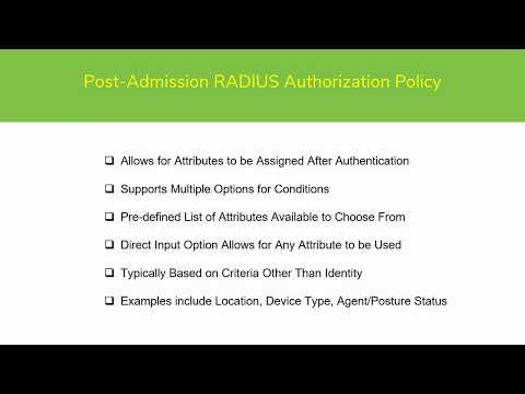 Post Admission RADIUS Authorization