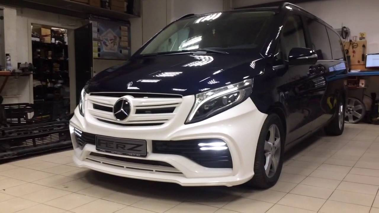 body kit for mercedes benz v class 2016 youtube. Black Bedroom Furniture Sets. Home Design Ideas