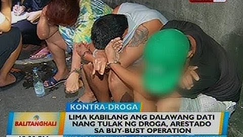 Lima kabilang ang dalawang dati nang tulak ng droga, arestado sa buy-bust operation