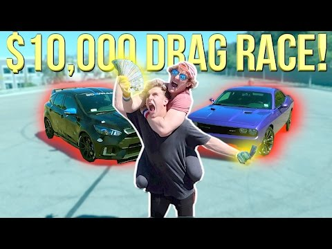 Thumbnail: DRAG RACING MY BROTHER FOR $10,000! (Who Will Win?!)