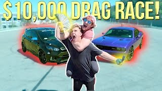 DRAG RACING MY BROTHER FOR $10,000! (Who Will Win?!)
