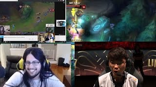 sNEAKY REACTS TO POKIMANE | FOUNTAIN DIVE FOR PENTAKILL | Faker NA FLASH |  Stream Moments