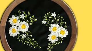 Hand Embroidery | Ribbon Heart Wall Decorating Ideas | Handiworks #94