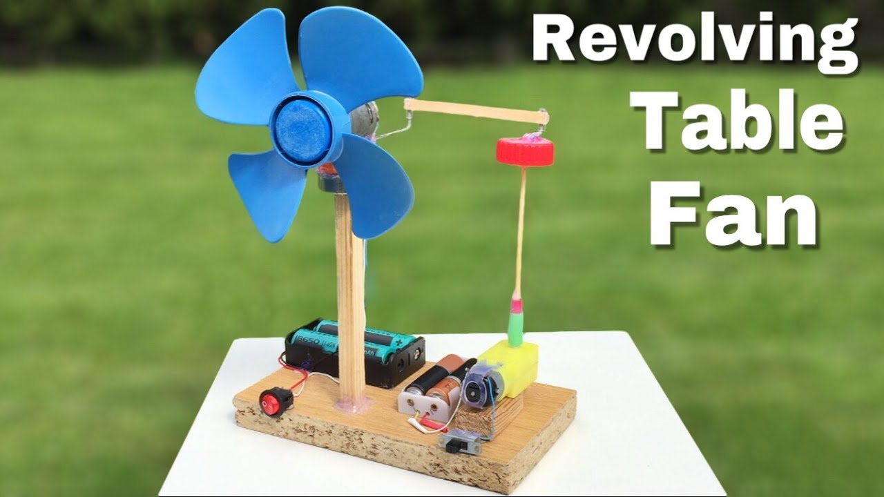 How To Make A Mini Revolving Table Fan At Home Easy To