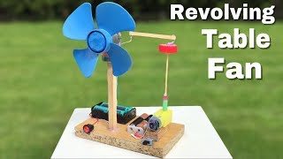 how to Make a Mini Revolving Table Fan at Home - Easy to Build - Amazing idea