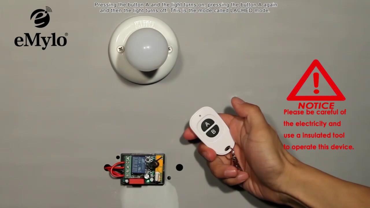 Schema Elettrico Emylo : Emylo ac v ch w remote control switch wireless rf relay