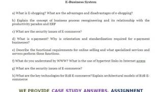 E BUSINESS SYSTEM - What are the security issues of E-commerce?