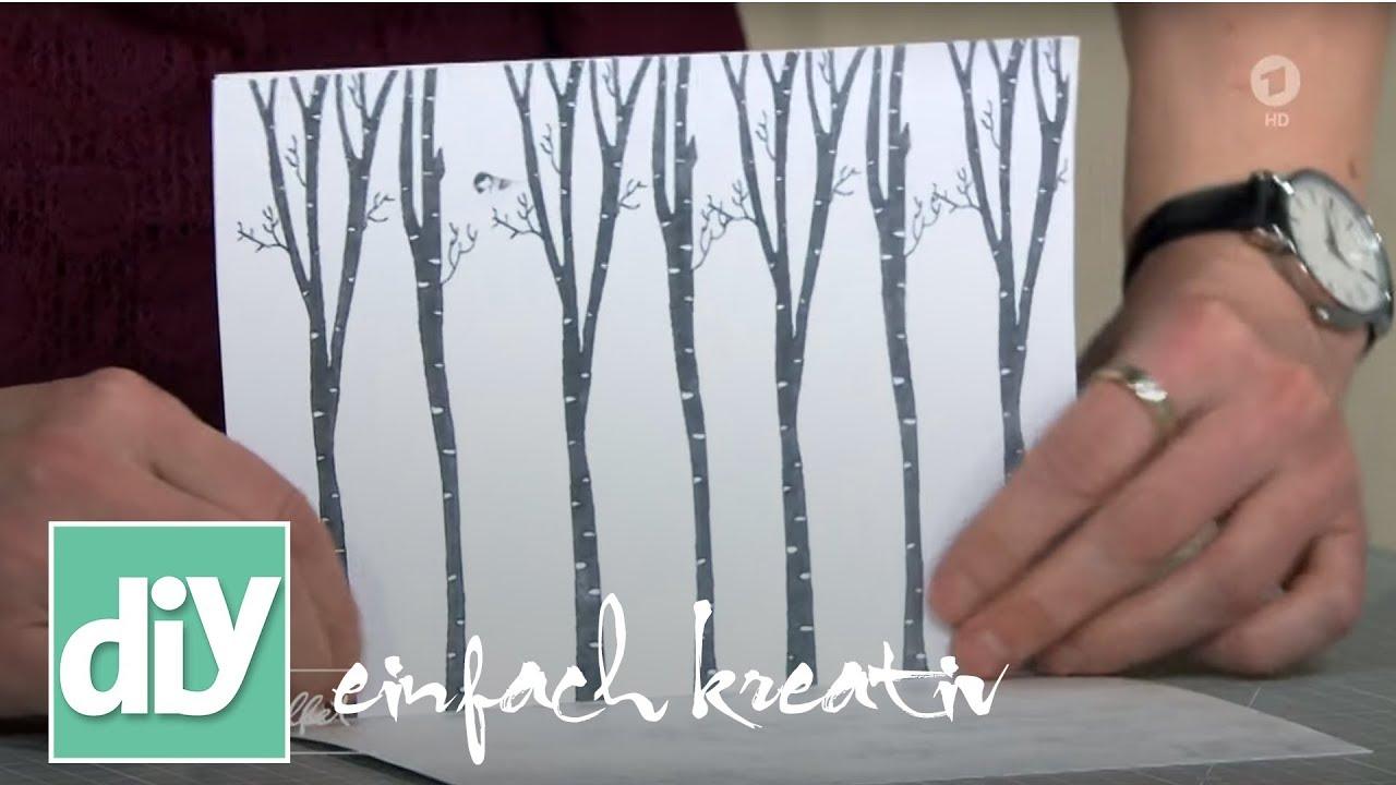 Pop Up Weihnachtskarten Diy Einfach Kreativ Youtube