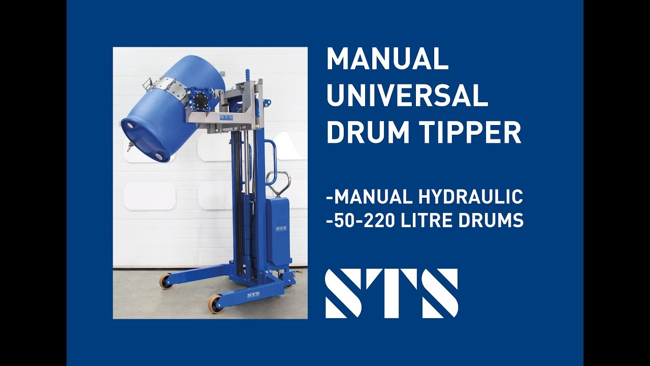 Universal Drum Tipper (Model: STM01-DRU01) - Hand Pump Model