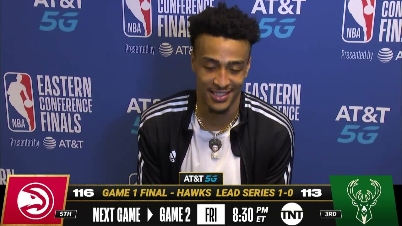John Collins On Huge Game 1 Win In Milwaukee! 🗣| Postgame Press Conference