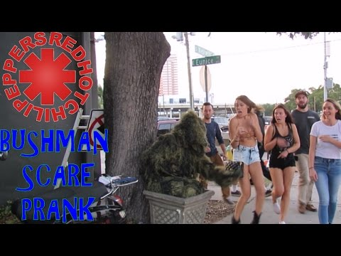 BUSHMAN SCARE PRANK AT RED HOT CHILI...