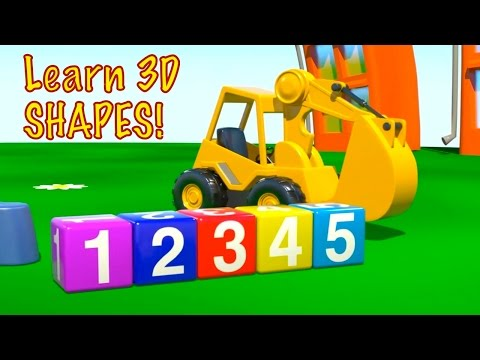Kid's 3D Construction 3: Build an EXCAVATOR demo & Learn to Count Lessons [건설, 자동차, 트랙터, 시멘트 트럭]