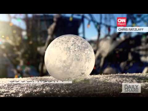 WHOA DUDE. Watch this bubble freeze!